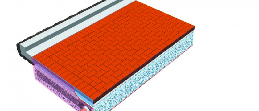 permeable paving illustration