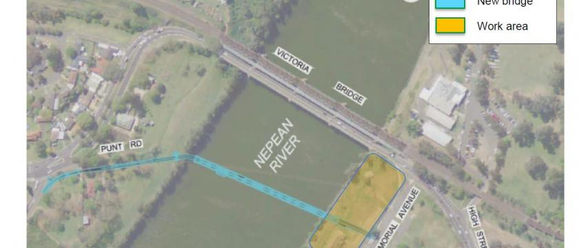 Nepean River Pedestrian Bridge Site Visit