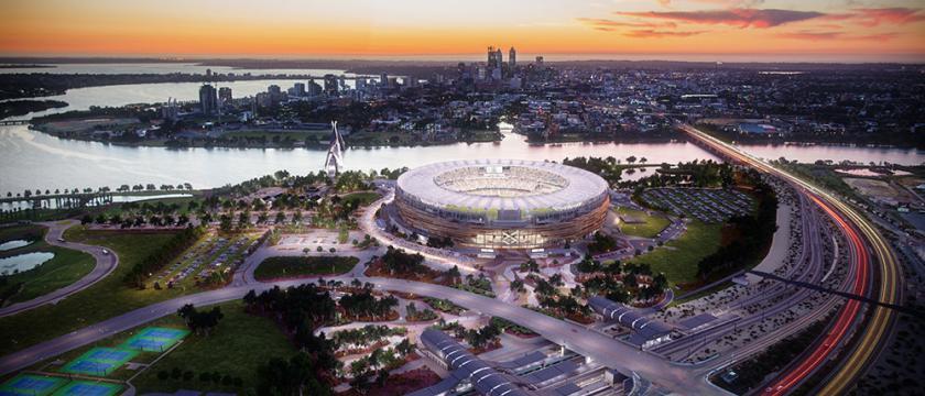 Optus Stadium Civil Enabling Works Ground Improvement Project
