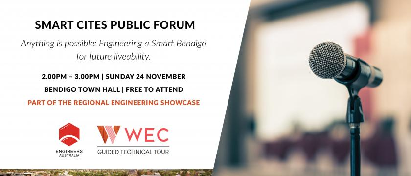 Public Forum - Anything is possible: Engineering a Smart Bendigo for future liveability