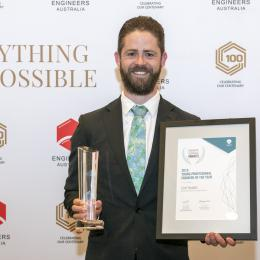 Young Professional Engineer of the Year Scott Snedden