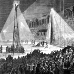 Lighting the night in 19th century Australia