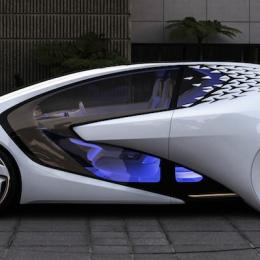 Toyota's futuristic Concept-i vehicle. Photo: Toyota