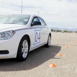 The driving experiments at the University of Arizona. Photo: University of Illinois