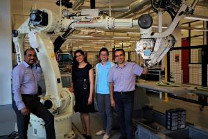Gangadhara Prusty (left), Professor, UNSW Mechanical and Manufacturing Engineering, with his team