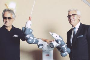Robot YuMi celebrates conducting debut with Andrea Bocelli
